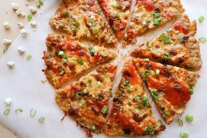 Chicken crust pizza