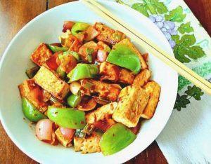 Tofu with veggies