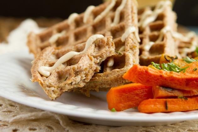 Flourless Crispy Flaxseed Waffles