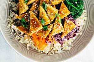 Cauliflower Rice & Vegetables and Tofu
