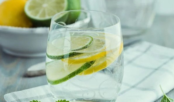 Water with Lemon and ACV