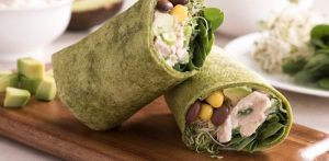 Avocado bean wrap