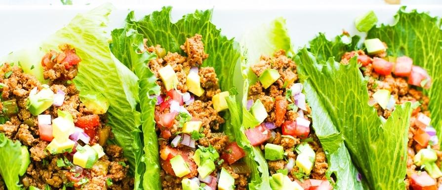 Turkey lettuce tacos